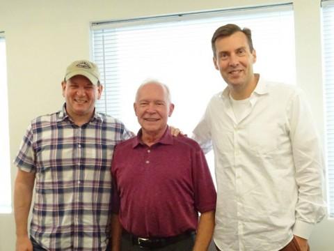 Terry con Al Gough e Miles Millar